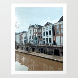 Canals in Utrecht The Netherlands | Fine Art Travel Photography | Cityscape Buildings Architecture Art Print