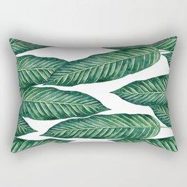 Green Banana Leaves #society6 Rectangular Pillow
