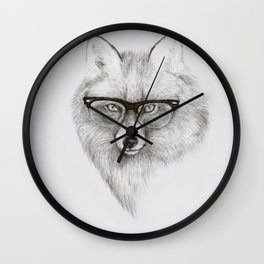Fox Specs Wall Clock