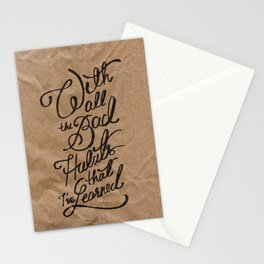 Bad Habits Stationery Cards