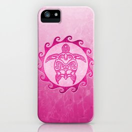 Pink Tribal Turtle Sun iPhone Case