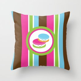 Cute Macaroons Throw Pillow