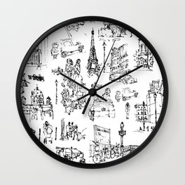 Sketches from Paris 01 Wall Clock