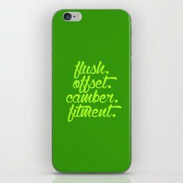 flush offset camber fitment v2 HQvector iPhone Skin