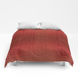 CrocLeather Red Comforters