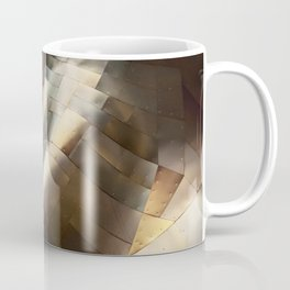 Golden abstract wall structure at EMP Museum Seattle Coffee Mug