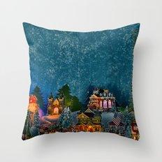 Christmas Village  Throw Pillow