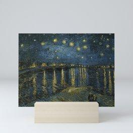 Starry Night Over the Rhone by Vincent van Gogh, 1888 Mini Art Print