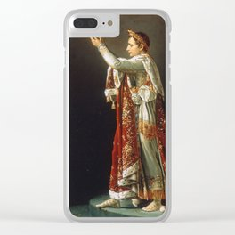 Jacques-Louis David - Portrait Of Napoleon From David S Coronation Of The Emperor And The Empress Clear iPhone Case