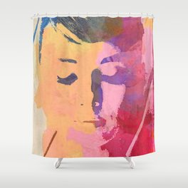 water color portrait Shower Curtain