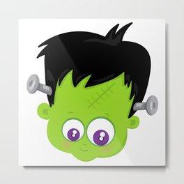 Cute Frankenstein Monster Metal Print