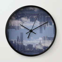 Upside Down City Wall Clock
