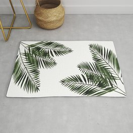 Tropical Exotic Palm Leaves I Rug