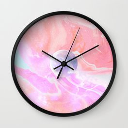 Marble Moon - Peach & Pink #moonart Wall Clock
