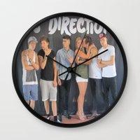 ashton irwin Wall Clocks featuring Mary Ashton by rocknroll