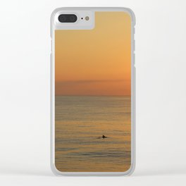 Dolphin with Beautiful Sunrise Clear iPhone Case