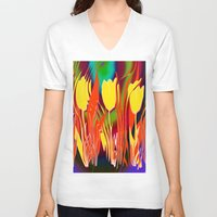 tulip V-neck T-shirts featuring Tulip  by LoRo  Art & Pictures