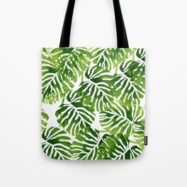Tropical Leaves - Green Tote Bag
