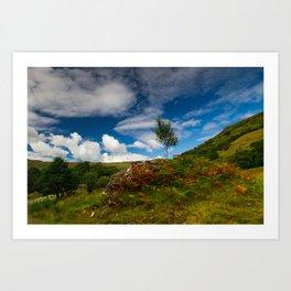 Glen Finglas autumn, Scotland Art Print