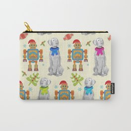 WEIMARANER AND THE ROBOT Carry-All Pouch