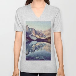 Moraine Lake Reflection Unisex V-Neck