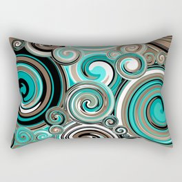 Water Whirlwind Abstract 2 Rectangular Pillow