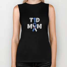 Diabetes Awareness Apparel Diabetic Gift T1D Mom Mother Biker Tank