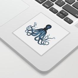 Octopus coastal ocean blue watercolor Sticker