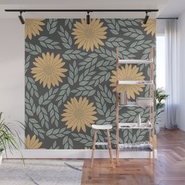 Autumn Flowers Wall Mural