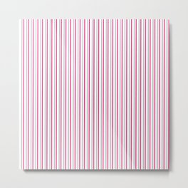 Grey pink stripes pattern Metal Print
