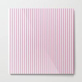 Grey pink stripes pattern Metal Print