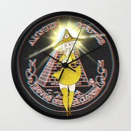 Illuminati - The Illuminati Witch Wall Clock