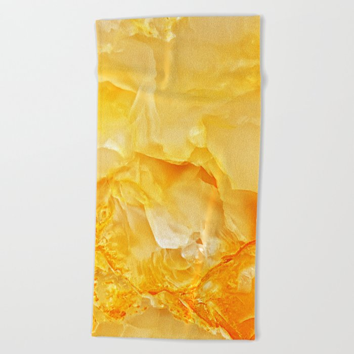 Yellow Onyx Marble Beach Towel
