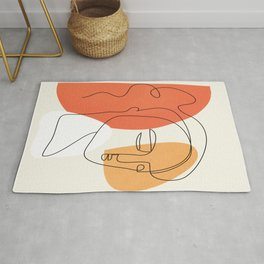 Abstract Face 24 Rug