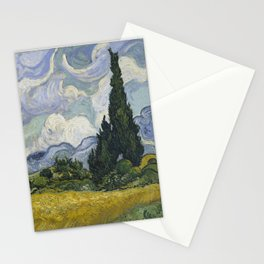 Wheatfield with Cypresses Stationery Cards