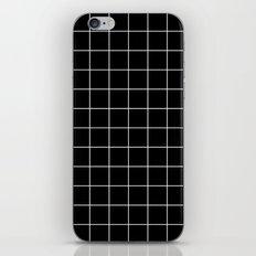 Black White Grid iPhone Skin