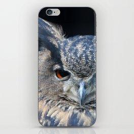 Eagle owl iPhone Skin