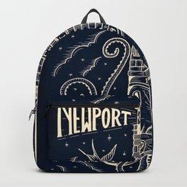 1959 Vintage Newport Folk Festival - Fort Adams, Newport, Rhode Island - Advertising Poster Backpack