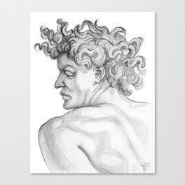Ignudi. after Michael Angelo Canvas Print