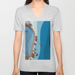 Bronte Baths Ocean Pool  Unisex V-Neck