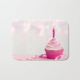 Pink Birthday Cupcake Bath Mat