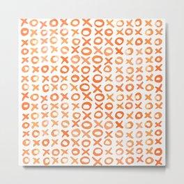 Xoxo valentine's day - orange Metal Print