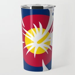 Colorado Hibiscus Flag Travel Mug
