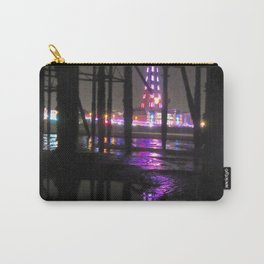 Reflection In Water of Blackpool Tower At Night  Carry-All Pouch