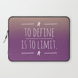 To define is to limit Laptop Sleeve