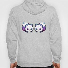 Kawaii Galactic Mighty Panda pattern Hoody