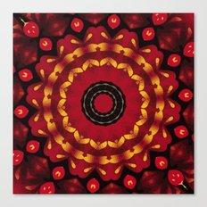 Gold On Red Mandala Canvas Print