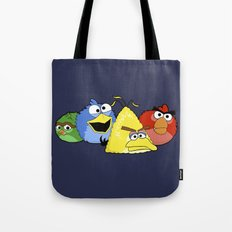 Angry Street Birds Tote Bag