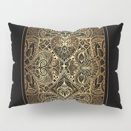 Ornament Gold Playing Card Pillow Sham