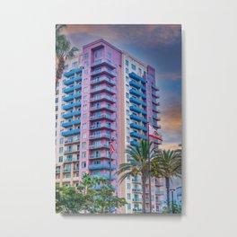 Colorful California Coastal Condo Metal Print